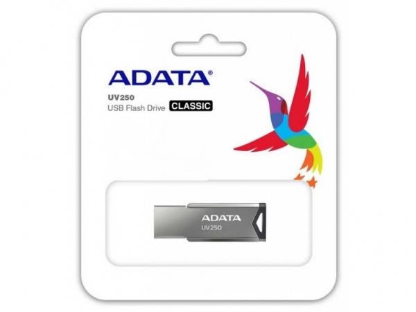 "USB 2.0 ADATA  16GB., aliaj, silver, ""AUV250-16G-RBK""(include timbru verde 0.01 lei) [0]"