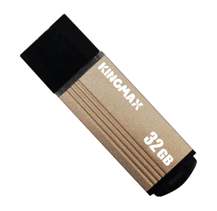"USB 2.0 KINGMAX  32GB MA-06, compact, aliaj aluminiu, gold ""KM-MA06-32GB/Y"" (include timbru verde 0.01 lei) [0]"