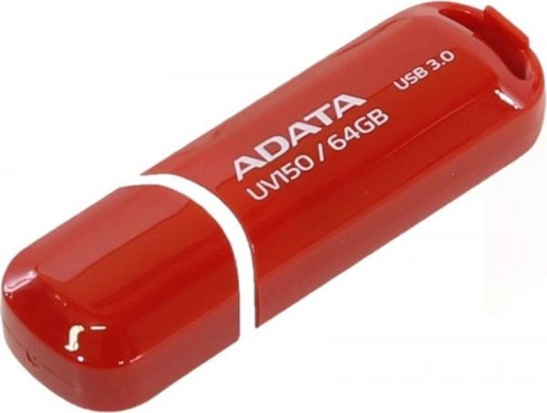 """USB 3.0 64GB ADATA   UV150 Red """"AUV150-64G-RRD"""" (include timbru verde 0.01 lei) 0"""