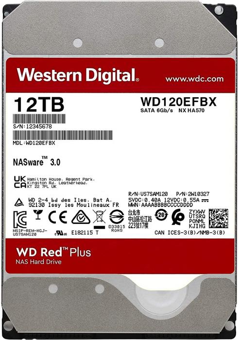 """WD HDD3.5 12TB SATA WD120EFBX """"WD120EFBX"""" [1]"""