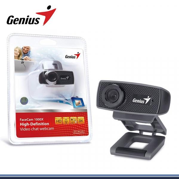 Webcam Genius HD 720p Facecam 1000x, CMOS, 720p up to 30fps, microfon, Black USB, Uvc, Ipm 1
