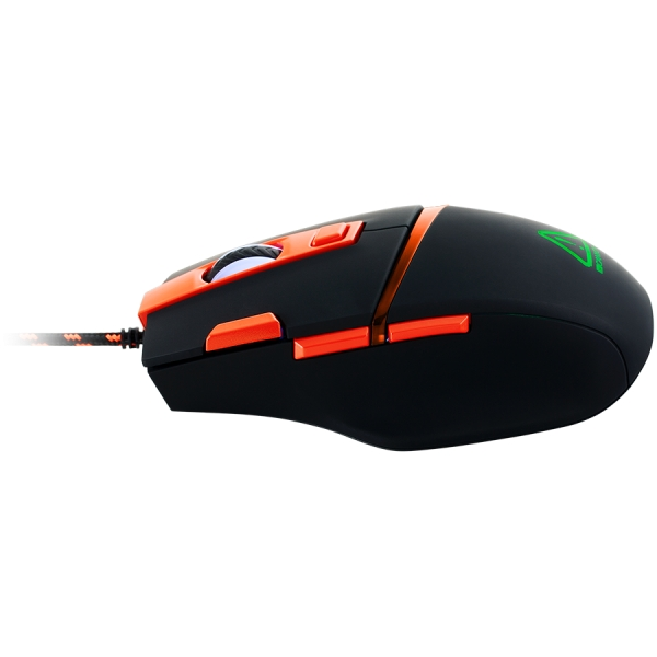 Wired Gaming Mouse with 7 programmable buttons, Pixart sensor of new generation, 4 levels of DPI and up to 4200, 5 million times key life, 1.65m Braided USB cable,rubber coating surface and RGB lights 2