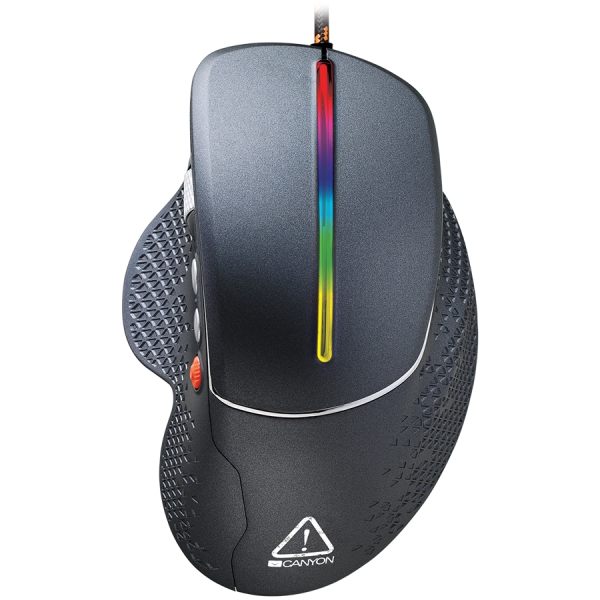 Wired High-end Gaming Mouse with 6 programmable buttons, sunplus optical sensor, 6 levels of DPI and up to 6400, 2 million times key life, 1.65m Braided USB cable,Matt UV coating surface and RGB light 0