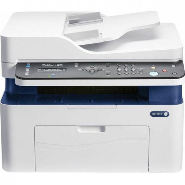 Multifunctional laser mono Workcentre 3025, Print/ Copy/ Scan/ Fax, Viteza: 20 ppm, Rezolutie: 600X600 dpi, Procesor 600 MHz, Memorie 128 MB, Limbaje de printare: GDI, Interfata: USB, Ethernet, Wirele 0