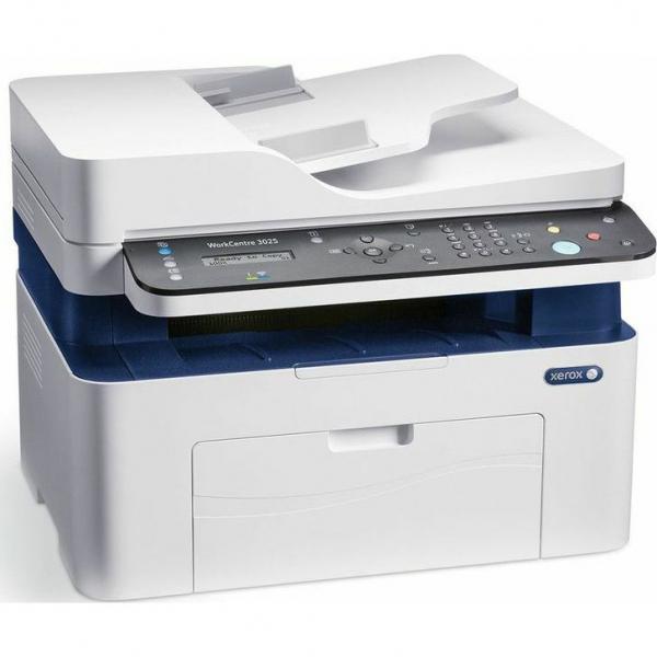 Multifunctional laser mono Workcentre 3025, Print/ Copy/ Scan/ Fax, Viteza: 20 ppm, Rezolutie: 600X600 dpi, Procesor 600 MHz, Memorie 128 MB, Limbaje de printare: GDI, Interfata: USB, Ethernet, Wirele 1