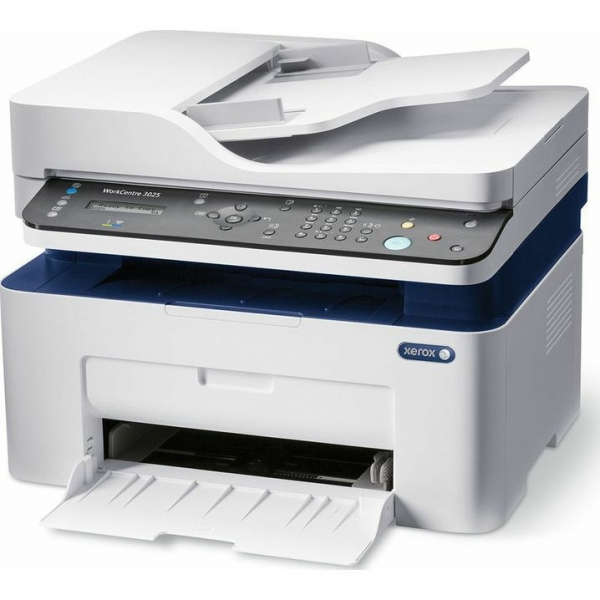 Multifunctional laser mono Workcentre 3025, Print/ Copy/ Scan/ Fax, Viteza: 20 ppm, Rezolutie: 600X600 dpi, Procesor 600 MHz, Memorie 128 MB, Limbaje de printare: GDI, Interfata: USB, Ethernet, Wirele 4