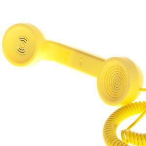 NATIVE UNION |{English}RETRO HANDSET - POP PHONE{English}{Russian}RETRO гарнитура - POP PHONE{Russian}|, Yellow, Retail () [1]