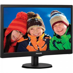 "Monitor LED Philips 223V5LSB2/10 (21.5"" LED Full HD 5ms 1920x1080 16/9 VGA 200cd/m 10M:1 VESA) GlossyBlack1"