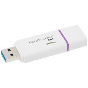 Kingston 64GB USB 3.0 DataTraveler I G4, white/purple, EAN: 7406172204761