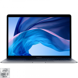 Laptop Apple 13.3'' MacBook 2020 Air 13 with Retina True Tone, Ice Lake i3 1.1GHz, 8GB DDR4X, 256GB SSD, Intel Iris Plus, macOS Catalina, Space Grey, INT keyboard