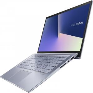 Laptop ultraportabilASUS 14'' ZenBook 14 UX431FL, Full HD, Procesor Intel® Core™ i5-10210U (6M Cache, up to 4.20 GHz), Memorie 8GB, 512GB SSD, GeForce MX250 2GB, Utopia BlueMetal, Licenta Windows 102