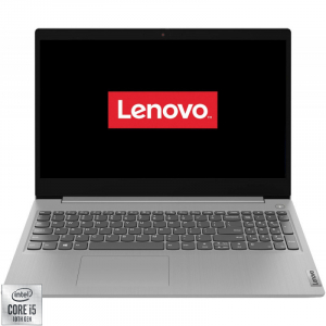Ultrabook Lenovo 15.6'' IdeaPad 3 15IIL05, FHD, Procesor Intel® Core™ i5-1035G4 (6M Cache, up to 3.70 GHz), 8GB DDR4, 256GB SSD, Intel Iris Plus, Free DOS, Platinum Grey