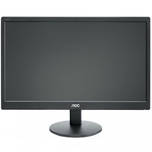 "Monitor LED AOC E2070SWN (19.5"""", WLED, 16:9, 1600 x 900, 5 ms, 20.000.000:1 DCR, 170/160, 250 cd/m2, 16.7M, VGA, VESA 75 mm)0"