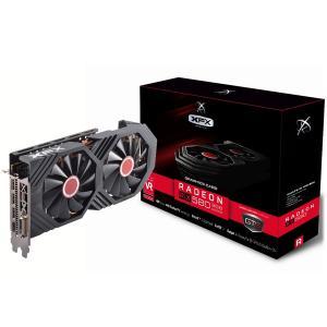 XFX Video Card AMD RADEON RX 580 GTS 8GB XXX Ed. OC 1366 Mhz GDDR5 8GB/256bit Dynamic 22 Blade fan 3X DP HDMI DVI [0]