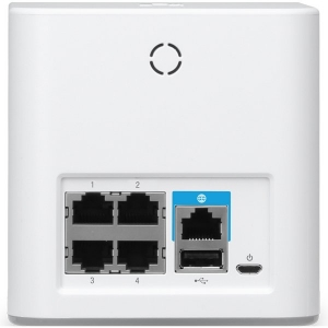 Ubiquiti AmpliFI HD Mesh Router, Dual-Band 802.11AC 3X3 MIMO Wi-Fi, Wi-Fi/Gigabit Ethernet (1) WAN, (4) LAN, 802.11ac 13 Mbps to 1300 Mbps,6.5 Mbps to 450 Mbps1