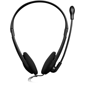 CANYON PC headset with microphone, volume control and adjustable headband, cable 1.8M, Black/Orange [1]