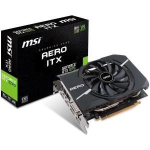 MSI Video Card GeForce GTX 1070 AERO ITX 8GB GDDR5 8GB/256bit, 1721/1531MHz, PCI-E 3.0, DisplayPort x 2 (Version 1.4)/HDMI x 2 (Version 2.0)/DL-DVI-D, Retail0