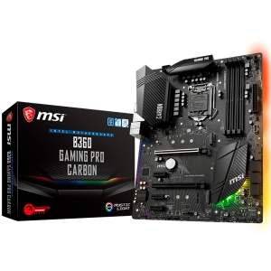 MSI Main Board Desktop B360 (S1151, DDR4, USB3.1, USB2.0, SATA III,M.2, DisplayPort, HDMI - Requires Processor Graphics, 8-Channel(7.1) HD Audio with Audio Boost 4, Intel I219-V Gigabit LAN) ATX Retai0