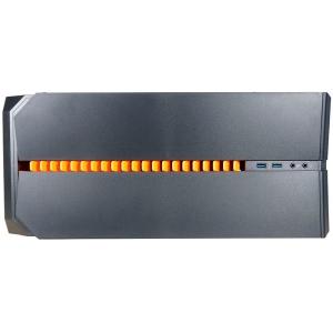 Inaza Devastator Black / Orange, SECC Steel ATX Mid Tower, no source (ATX type, mounted down), black painted interior2