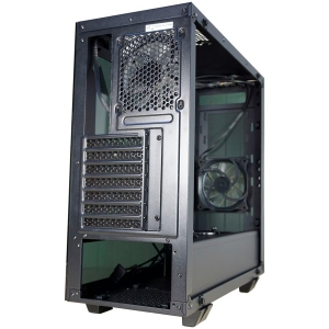 Inaza Drone Black, SECC Steel ATX Mid Tower, no source (ATX type, mounted down), black painted interior3