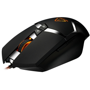 CANYON Wired gaming mouse programmable, Sunplus 189E2 IC sensor, DPI up to 4800 adjustable by software, Black rubber coating with chrome design3