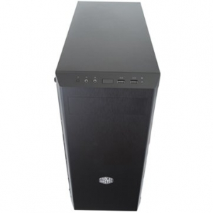 """PC Chassis COOLER MASTER MasterBox MB600L, without PSU, Black, Steel, Plastic, ATX, 2xCombo 3.5""""/2.5"""", Front: 2x120, 2x140, Rear: 1x120, Liquid Cooling Support, 464x212x454.5mm [1]"""