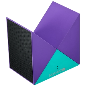 Transformer Bluetooth Speaker, BT V4.1, BEKEN BK3254, 360 degree rotation, Built in microphone, TF card support, 3.5mm AUX, micro-USB port, 800mAh polymer battery, blue-purple0