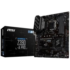 """MSI Main Board Desktop Z390-A PRO LGA1151,4DDR4, 2PCI-Ex16, 4PCI-Ex1,1M.2, 6SATA3, 2USB3.1 GEN2 ,6USB3.1 """"Z390-A_PRO""""0"""