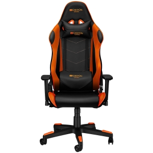 Gaming chair, PU leather, Original foam and Cold molded foam, Metal Frame, Butterfly mechanism, 90-165 dgree, 3D armrest, Class 4 gas lift, Nylon 5 Stars Base, 60mm PU caster, black+Orange.1
