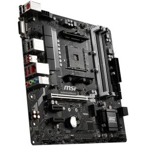 MSI Main Board Desktop B450 (SAM4, 4xDDR4, 1xPCI-Ex16, 2xPCI-Ex1, USB3.1, USB2.0, 4xSATA III, 1xM.2, 7.1Audio, DVI-D, HDMI, GLAN) mATX Retail0