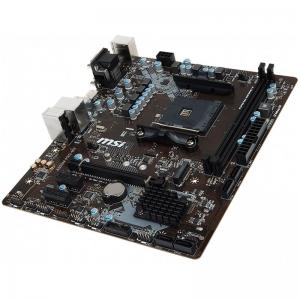 MSI Main Board Desktop A320 (SAM4, 2xDDR4, PCI-Ex16, 2xPCI-Ex1, USB3.1, USB2.0, SATA III, VGA, DVI-D, GLAN) mATX Retail1