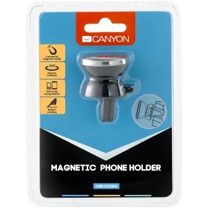 Canyon Car Holder for Smartphones,magnetic suction function ,with 2 plates(rectangle/circle), black ,40*35*50mm 0.033kg0