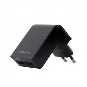 """2-port universal USB charger, 2.1 A, black """"EG-U2C2A-02"""" [0]"""