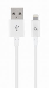 """8-pin charging and data cable, 2 m, white """"CC-USB2P-AMLM-2M-W"""" [0]"""