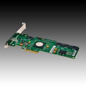 Intel RAID Controller SASWT4I (4port LSI SAS1068E, 3Gb/s SAS/SATA, entry-level HW RAID 0/1/1E/10E, PCIe x4, low profile, half-length MD2 form factor, LP Bracket included, NO cables) [0]