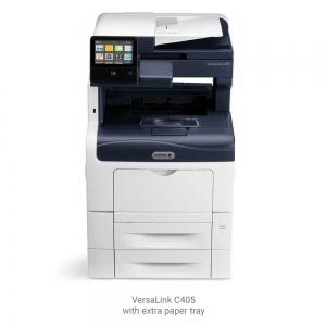 Multifunctional laser color Xerox VersaLink C405V_DN, viteza 35 ppm mono & color, rezolutie 600X600 dpi,Processor 1.05 Ghz Memorie: 2gb, Duplex, ADF 50 coli, recomandat 80000 pag/luna, Conectivitate: 0