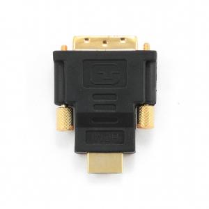 "ADAPTOR video GEMBIRD, HDMI (T) la DVI-D SL (T), conectori auriti, black, ""A-HDMI-DVI-1""2"