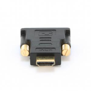 "ADAPTOR video GEMBIRD, HDMI (T) la DVI-D SL (T), conectori auriti, black, ""A-HDMI-DVI-1""0"