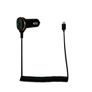 """ALIMENTATOR AUTO LOGILINK, 2 x USB 2.0, pt. bricheta auto 1 x USB 2.0, cablu micro-USB 1 x USB 2.0, 0.4m cablu, maxim 2.1A, black, """"PA0147""""1"""