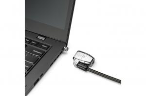 """CABLU securitate KENSINGTON pt. notebook 3-in-1 slot standard / Nano / Wedge, cheie standard, conectare one-click,1.8m, cablu otel carbon, permite pivotare si rotire cablu, """"ClickSafe 2.0"""" """"K68102EU""""2"""