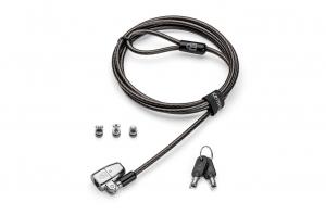 """CABLU securitate KENSINGTON pt. notebook 3-in-1 slot standard / Nano / Wedge, cheie standard, conectare one-click,1.8m, cablu otel carbon, permite pivotare si rotire cablu, """"ClickSafe 2.0"""" """"K68102EU""""0"""