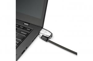 """CABLU securitate KENSINGTON pt. notebook 3-in-1 slot standard / Nano / Wedge, cheie standard, conectare one-click,1.8m, cablu otel carbon, permite pivotare si rotire cablu, """"ClickSafe 2.0"""" """"K68102EU""""4"""