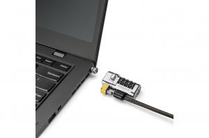 """CABLU securitate KENSINGTON pt. notebook 3-in-1 slot standard / Nano / Wedge, cifru cu patru discuri, conectare one-click,1.8m, cablu otel carbon, permite pivotare si rotire cablu, """"ClickSafe 2.0"""" """"K63"""