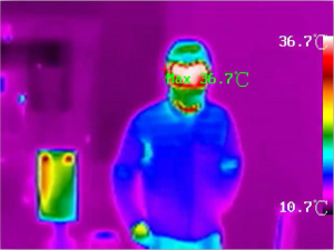 Camera supraveghere cu termoviziune pentru masurarea temperaturii corpului DS-2TD1217B-3/PA1