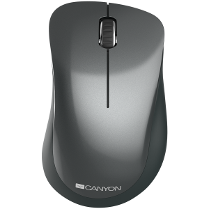 Canyon  2.4 GHz  Wireless mouse ,with 3 buttons, DPI 1200, Battery:AAA*2pcs,Black,67*109*38mm,0.063kg0