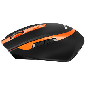 Canyon  2.4 GHz  Wireless mouse ,with 6 buttons, DPI 800/1200/1600/2000/2400, Battery:AAA*2pcs  ,Black-Orange 77.4*120.6*40.5mm 79g,2