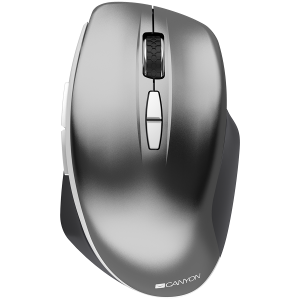 Canyon  2.4 GHz  Wireless mouse ,with 7 buttons, DPI 800/1200/1600, Battery:AAA*2pcs  ,Dark gray72*117*41mm 0.075kg0