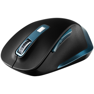 Canyon 2.4Ghz Wireless mouse, with 6 buttons,DPI 800/1200/1600/2000/2400,Battery:AAA*2 pcs , Black-blue 119.6*81.1*43.3mm86.8g0