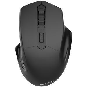 CANYON 2.4GHz Wireless Optical Mouse with 4 buttons, DPI 800/1200/1600, Black, 115*77*38mm, 0.064kg [0]
