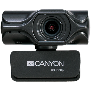 CANYON 2k Ultra full HD 3.2Mega webcam with USB2.0 connector, built-in MIC, Manual focus, IC SN5262, Sensor Aptina 0330, viewing angle 80°, with tripod, cable length 2.0m, Grey, 61.1*47.7*63.2mm, 0.180